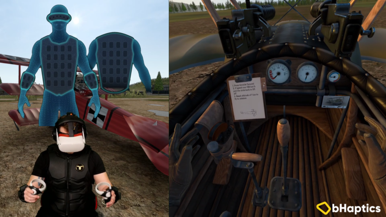 Warplanes: WW1 Fighters feels fantastic with the haptic suit!